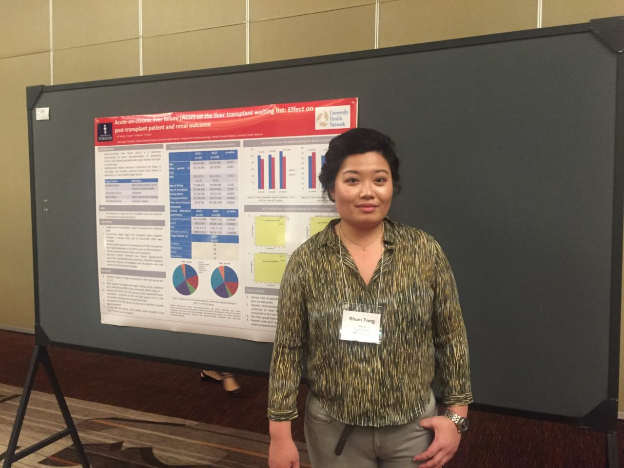 Evon Neong presenting Poster at CST